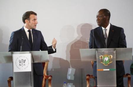 Emmanuel Macron Alassane Ouattara Costa de Marfil